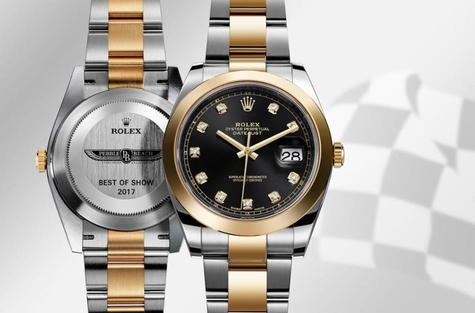 Owner of Rolex Best of Show award at Pebble Beach Concours d'Elegance received a Rolex Oyster Perpetual Datejust Superlative Chronometer