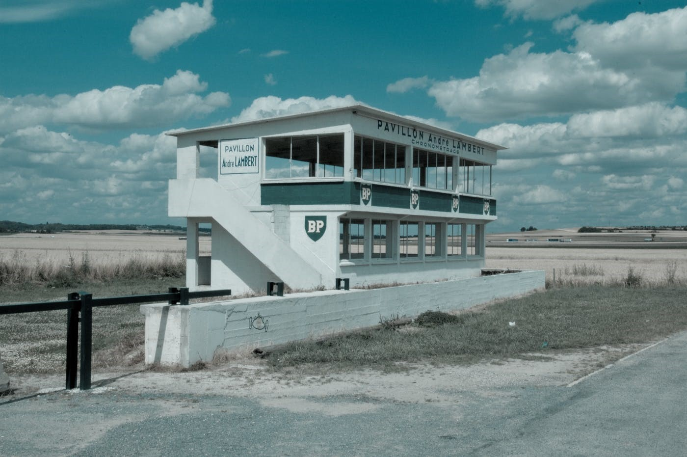 Timekeepers' building at the former Reims-Gueux circuit pictured in 2016