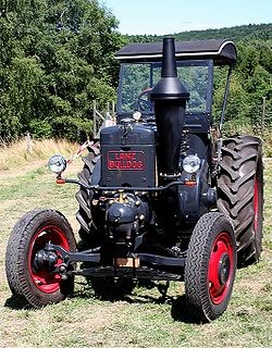 """The Lanz Bulldog was one of the most popular German tractors, with over 220,000 of them produced in its long production life. The name """"Bulldog"""" is widely used in Germany as a synonym for tractors even today, especially in  Bavaria ."""