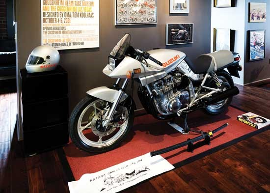 Ken's 1982 GS1000SZ, which was featured in The Art of the Motorcycle exhibit.
