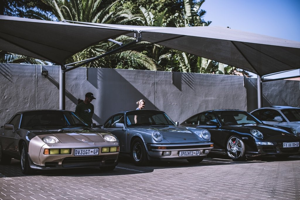 There was no shortage of Porsches of all flavours - 928 meets 930 and 997.