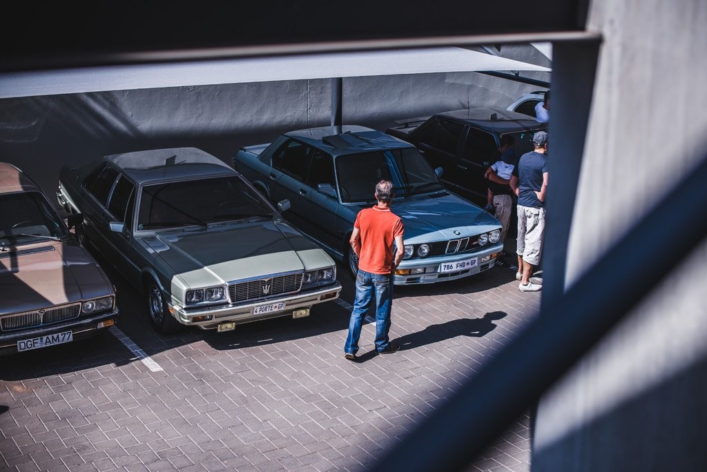 A Lancia Gamma and Maserati Quattroporte from 1984. When did you last see one of these?
