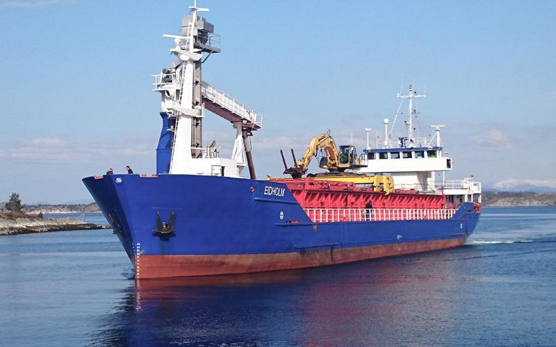 MAIN PARTICULARS:   Flag:  NOR  Breadth:  11.50 m  IMO NO:  8616099  Draft:  3.931 m  Callsign:  LNWA  Main Engine:  Caterpillar 3512DITAU abt 600KW  Built:  1987  LOA:  69 m   TONNAGE CAPACITIES:   DWT:  1759 Tonn  GT:  1392 Tonn   CARGO HANDLING EQUIPMENT:   Hatches:  Macor Marine  Forklifts:  Jugheinrich 2 tonn  Bulk Unloading Equipment:  Graintec 200 tonn/h  Cranes:  Excavator New Holland 385lx