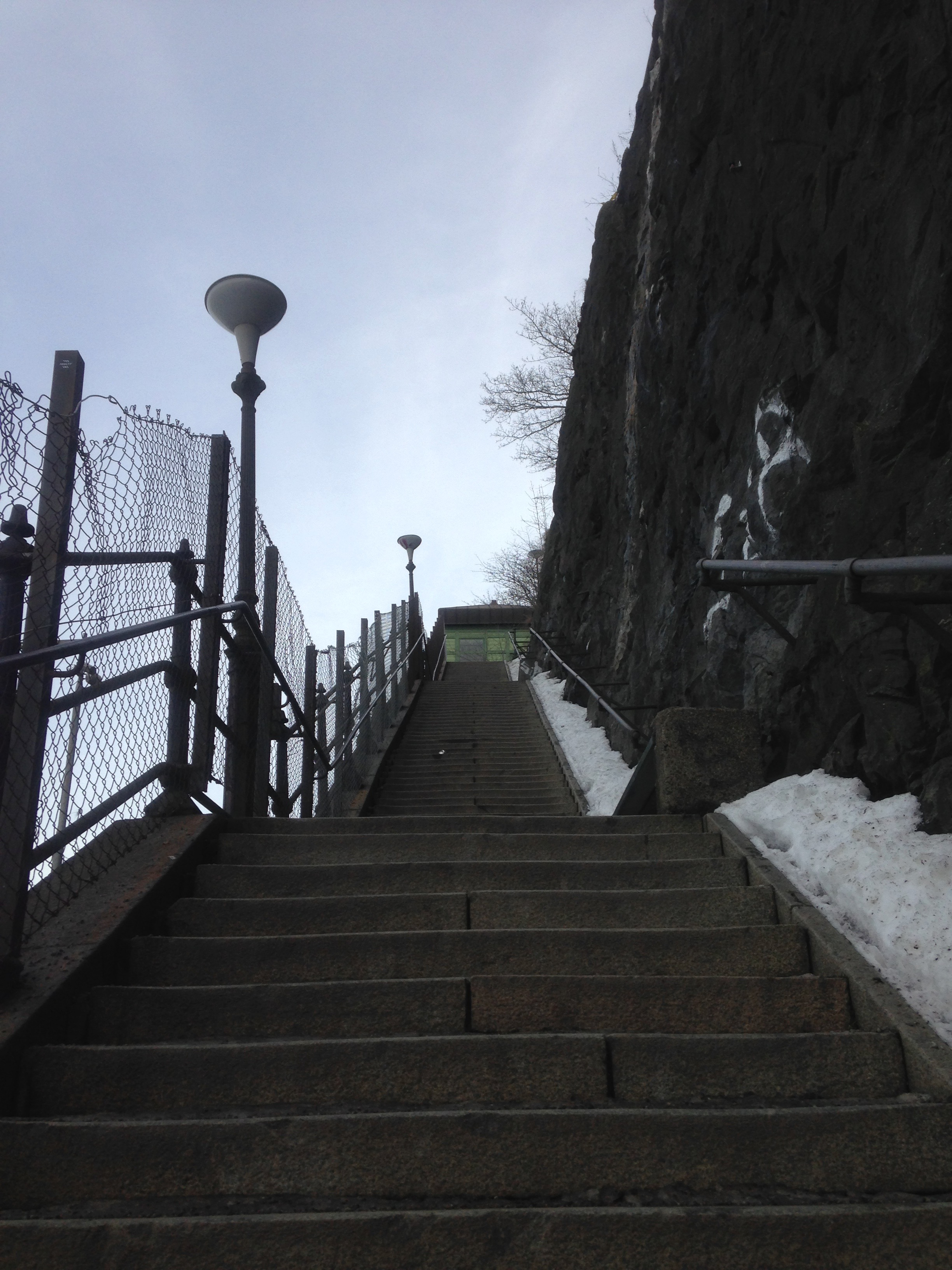 The dreaded stairs leading up from Fotografiska to Katarinavägen.