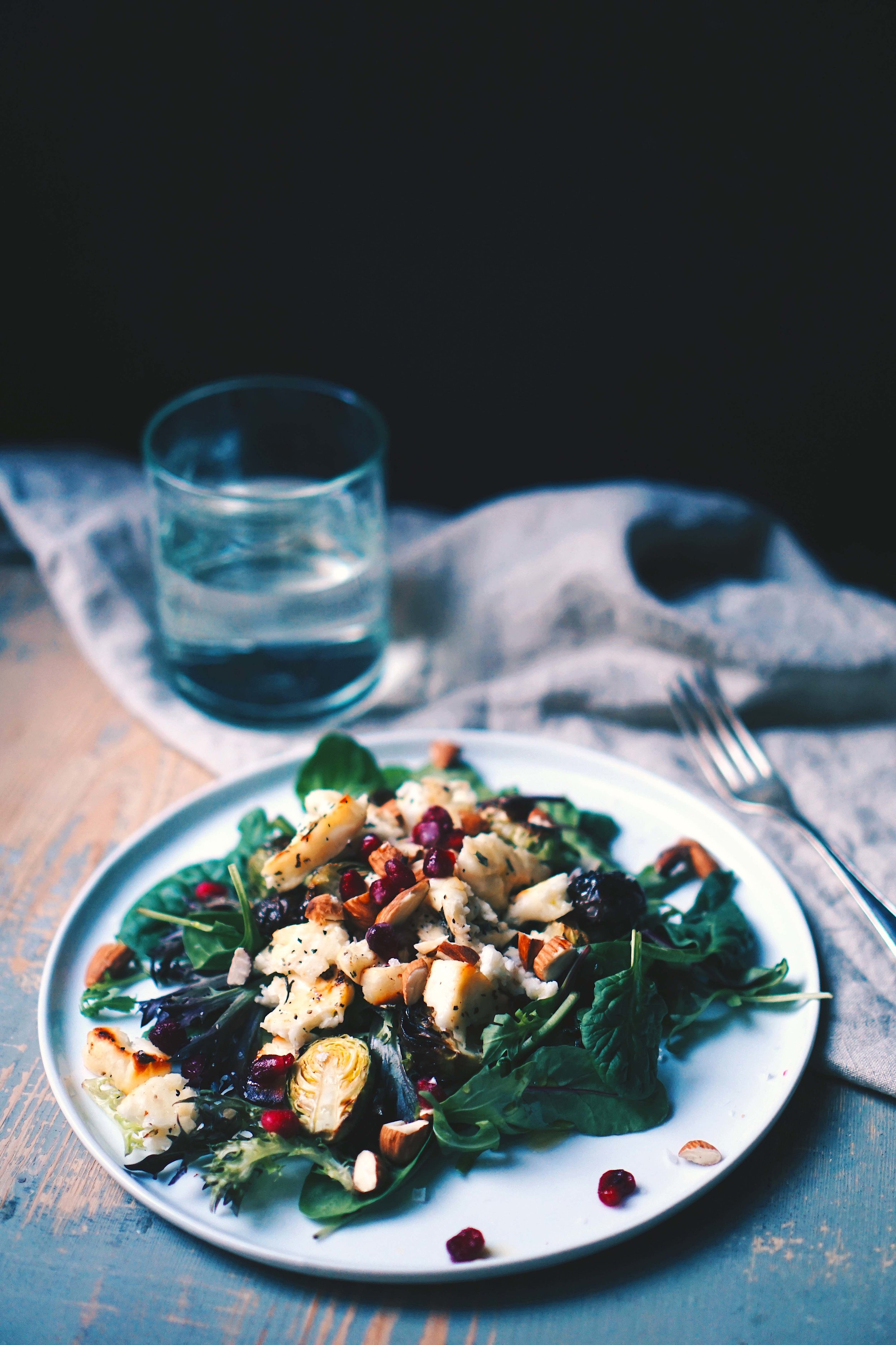 Combine a glass of water with your salad and you're good to go.