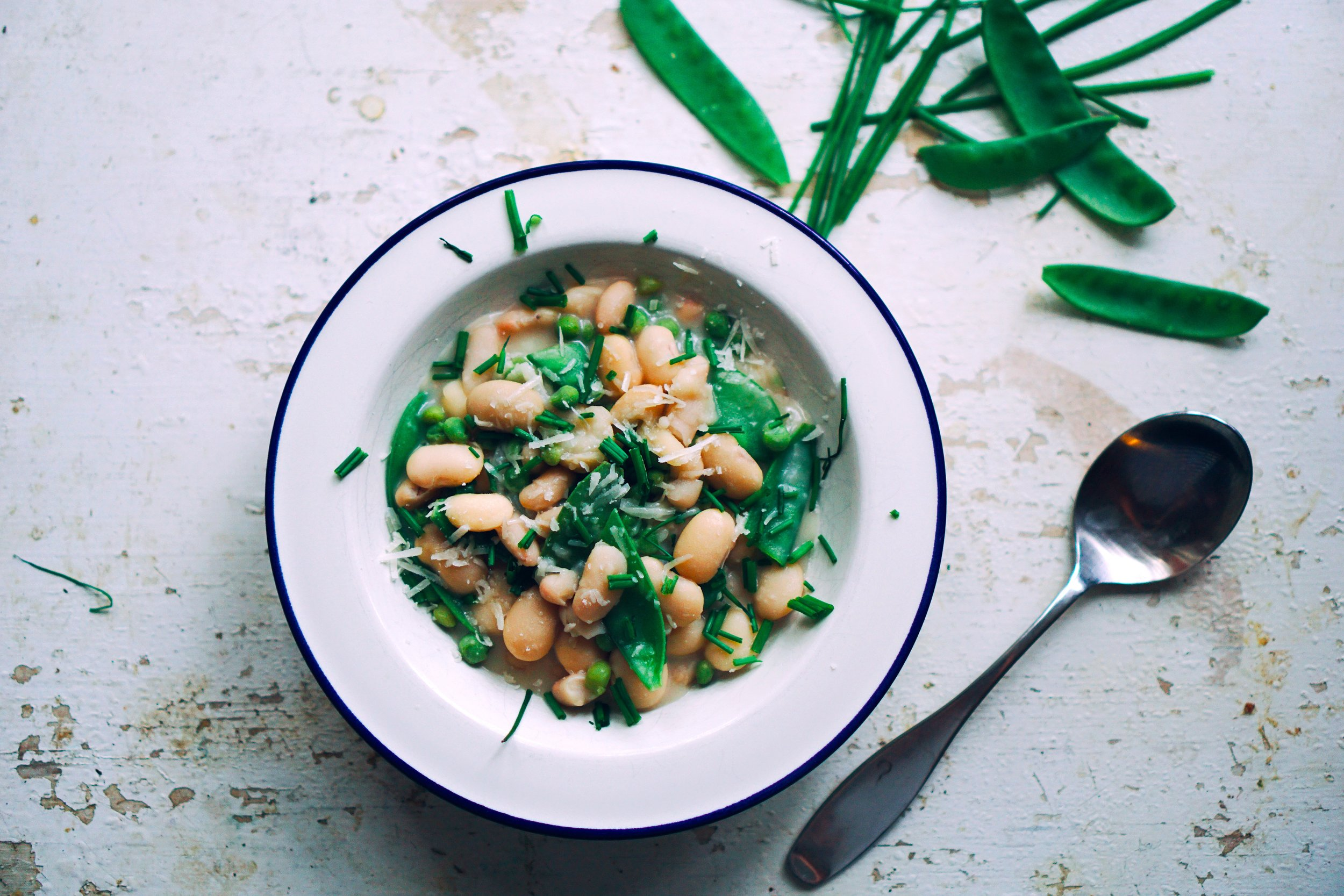 Bean risotto, the fastest food in the wild west