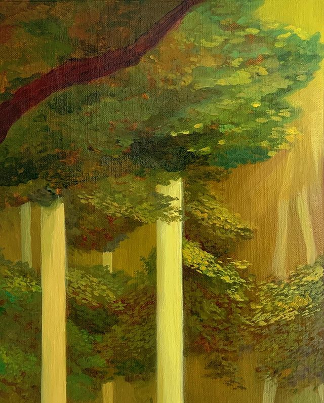 Detail from something in progress. I suppose this painting will take too long to finish, and I am running out of patience. At some point I will have to let go of it, just like what I do to the rest of my paintings. #workinprogress #paint #oilpainting #landscape #narrative #woods #process #contemporarypainting