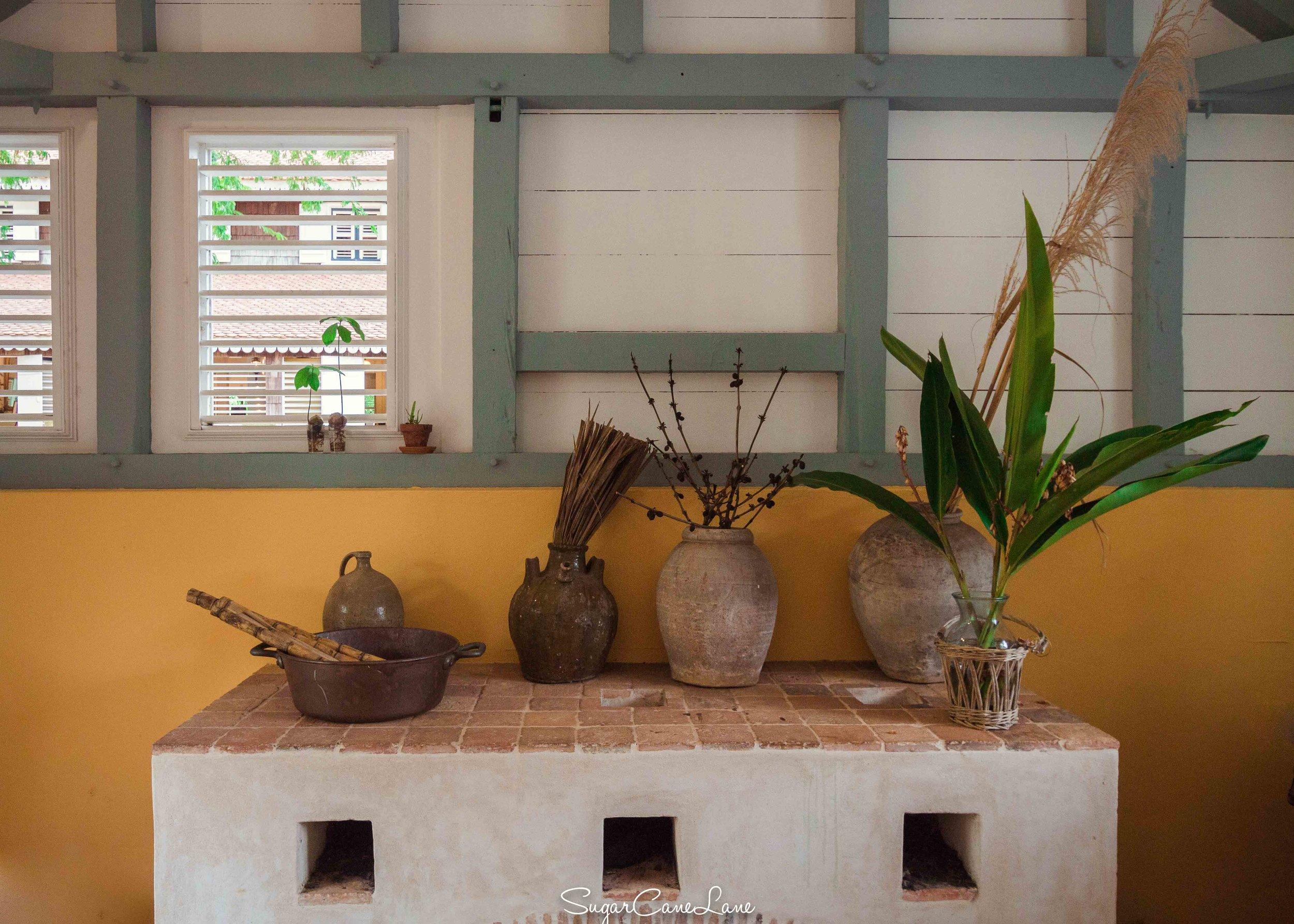 Martinique, Habitation Clément : la cuisine