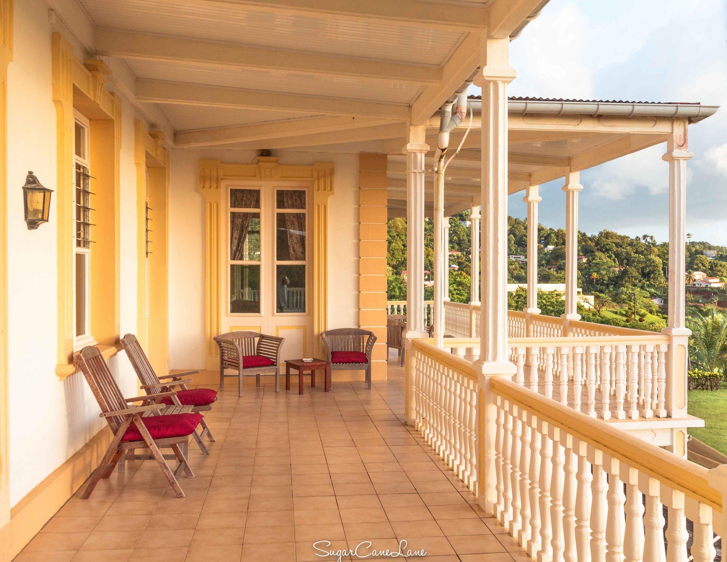 Domaine Saint-Aubin, Martinique : veranda