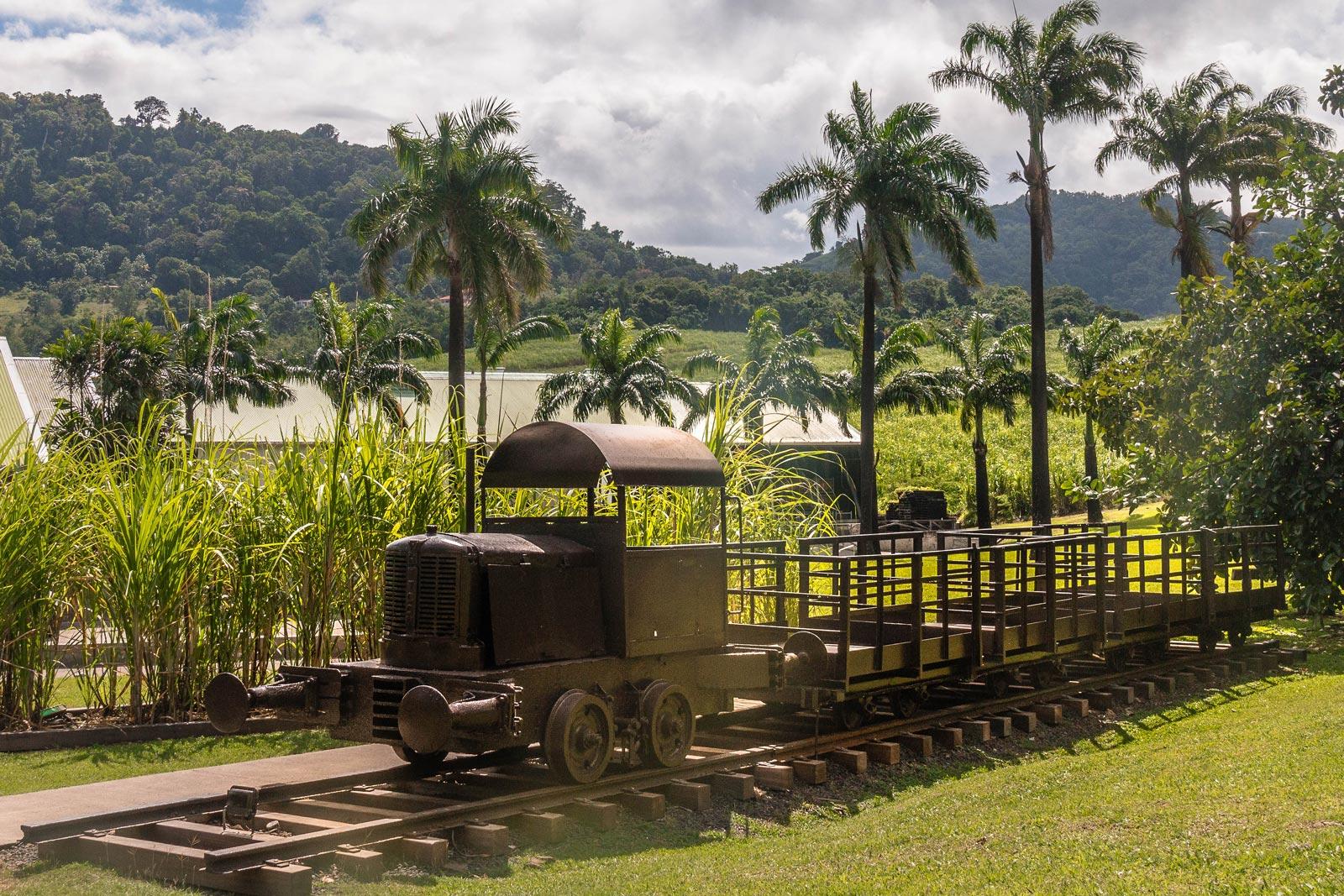 Habitation Clément, Martinique : petit train