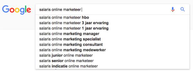 google results keyword onderzoek