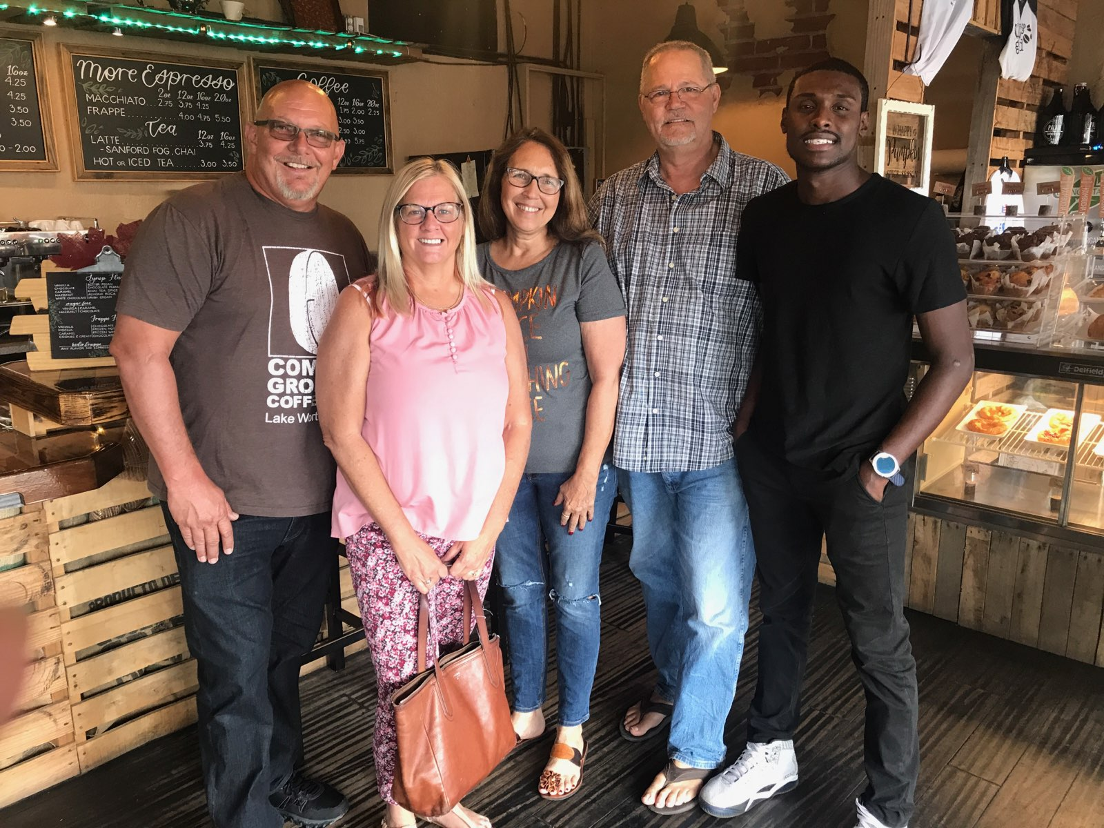 (From left) Mike Olive, Kelly Olive, Tina Kadolph, Carl Kadolph, and Devon Kadolph