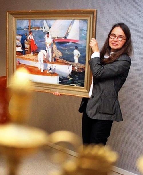 Pia Staël von Holstein i auktionstagen