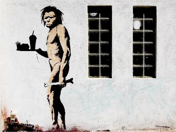 Caveman by Banksy