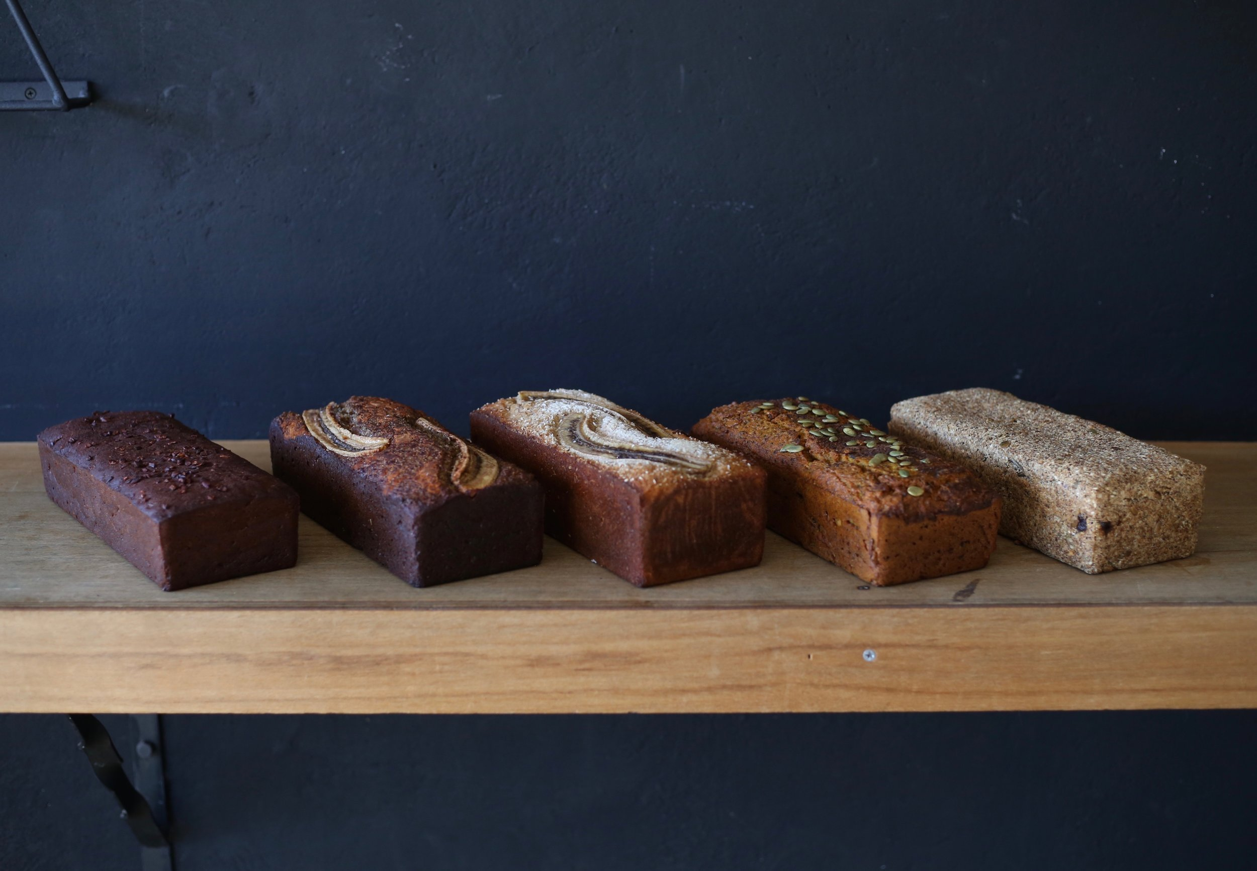 Gluten free specialty loaves. -