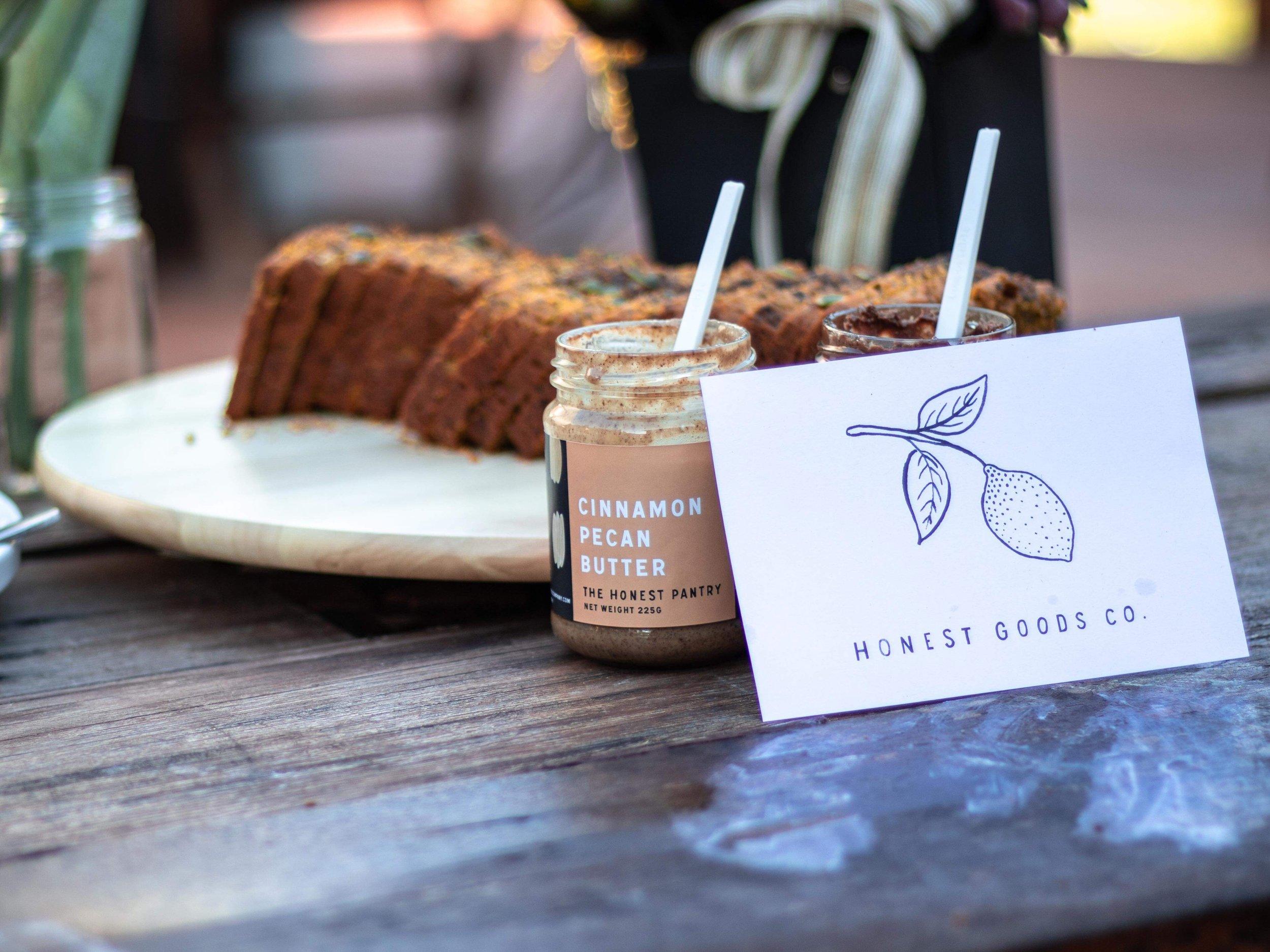 Brekky at a recent Bare & Wilde wellness. retreatHonest Goods Co. Paleo Pumpkin Loaf with The Honest Pantry Cinnamon Pecan Butter