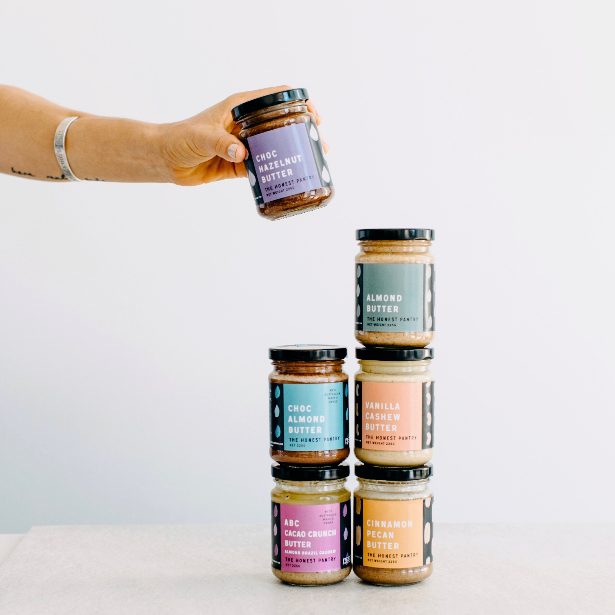 Keeping it honest. - The Honest Pantry artisan nut butter blends are all natural, vegan and sugar free. Small batch, made in Perth, Western Australia.What you won't find in our pantry: chemical emulsifiers; added oils; sugar; or ingredients with numbers instead of names.