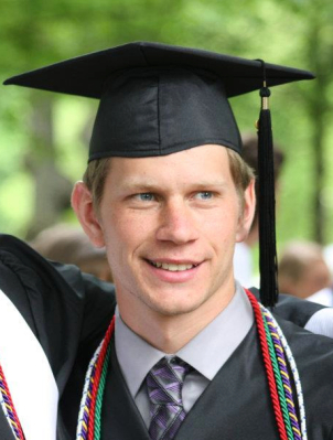 Dave on his graduation day