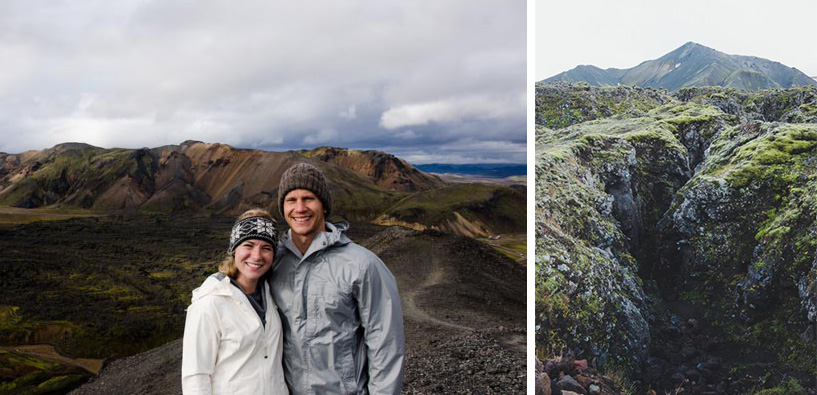 "Left:  the picture our French friend took on top of the ""black mountain,"" Day 2 