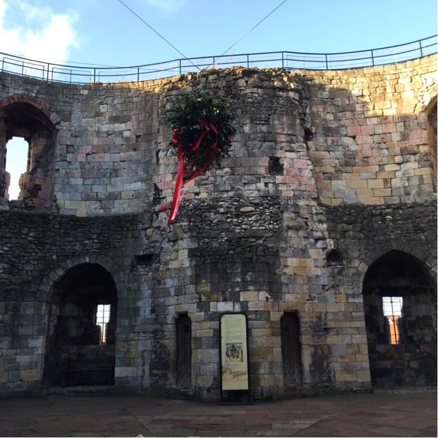 The interior of York Castle