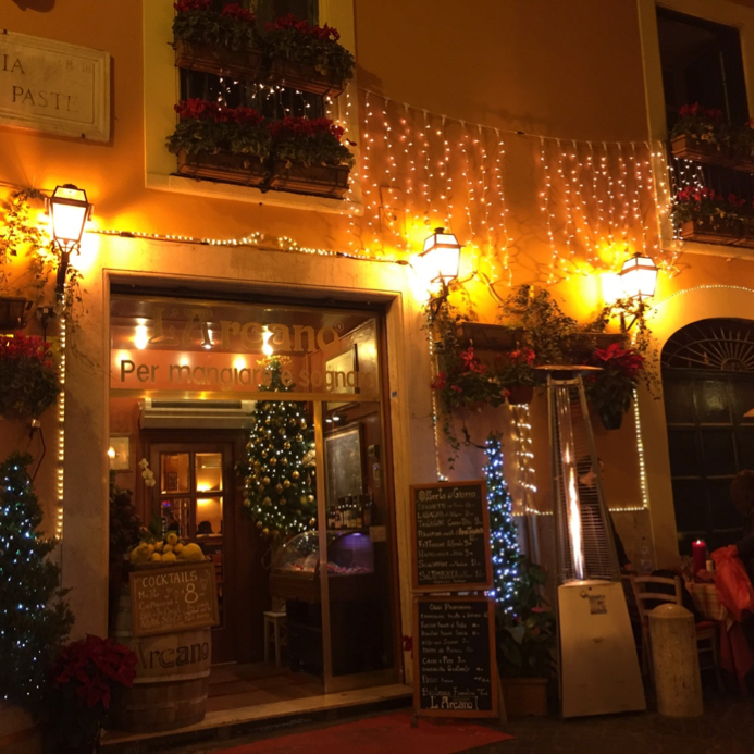 The quaintest little restaurant in Rome where we had dinner.  Loved the decorations!!!