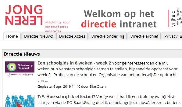Vensters schoolgids nieuws in de directie-agenda van Jong Leren