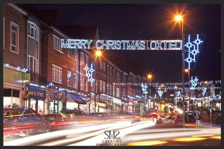 SMS Creative Photography Oxted Christmas Lights at Night Photography