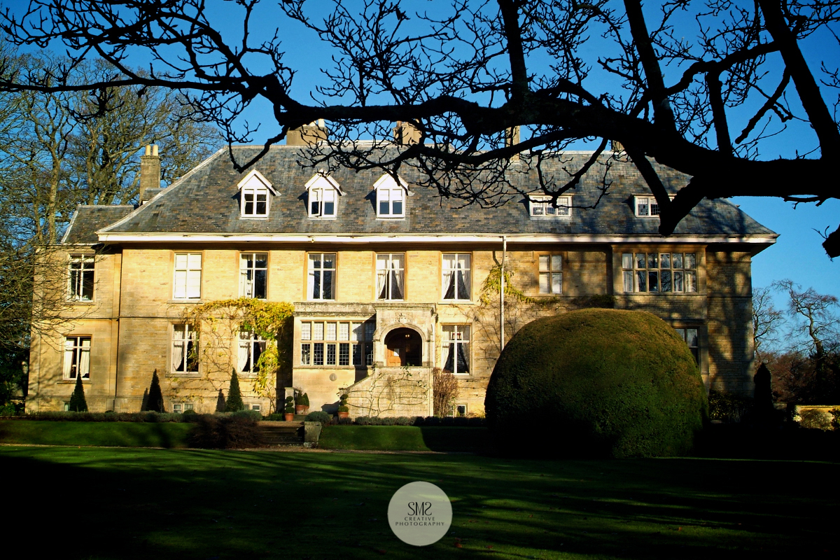 Early morning sun bathing 'Lower Slaughter Manor' in the Cotswolds.