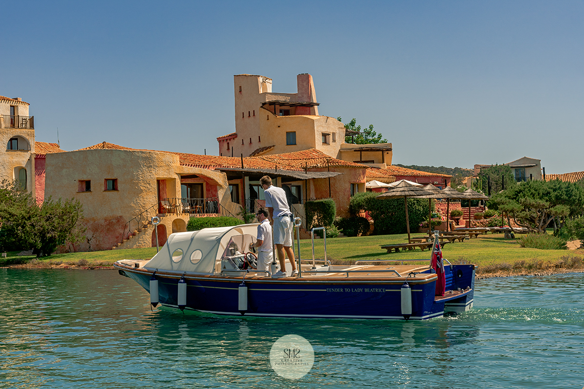 Early morning light at the Hotel Cala di Volpe in Sardinia during the 'golden hour'.