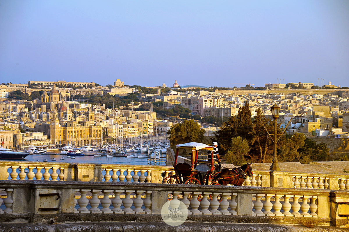 The 'golden hour' in Malta just before sunset.