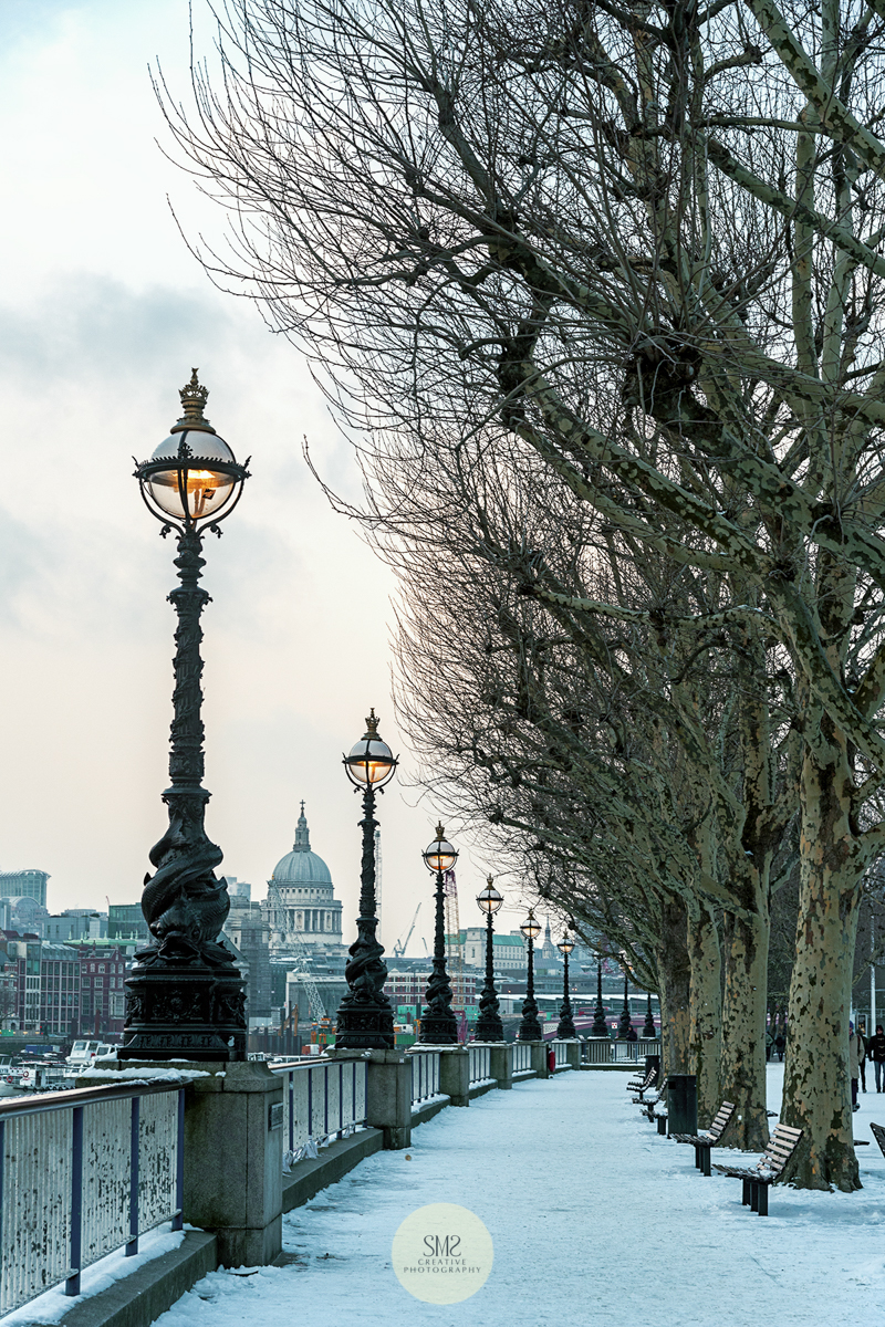 The South Bank - 28 February 2018 during the coldest day since records began.