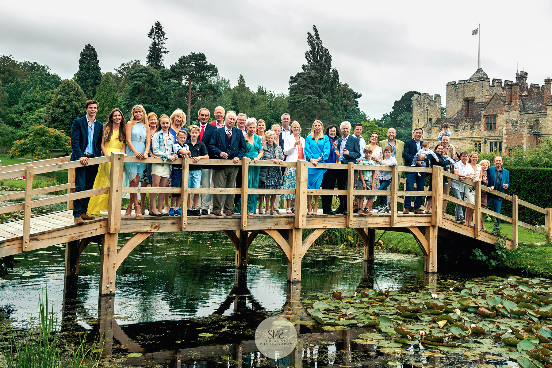 Birthday celebrations at Hever Castle in August 2018.