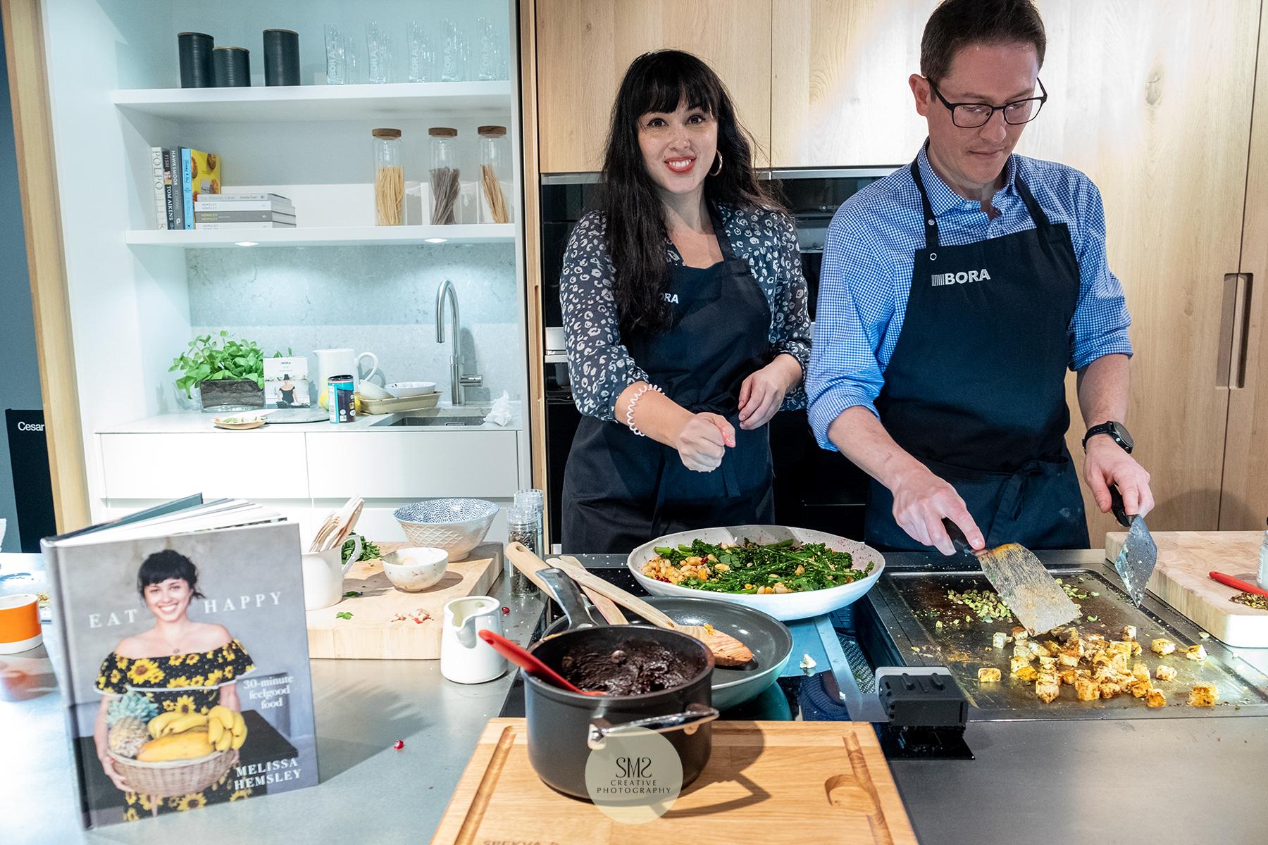 'Espresso Design' cookery demonstration by food guru Melissa Hemsley for Bora kitchen appliances