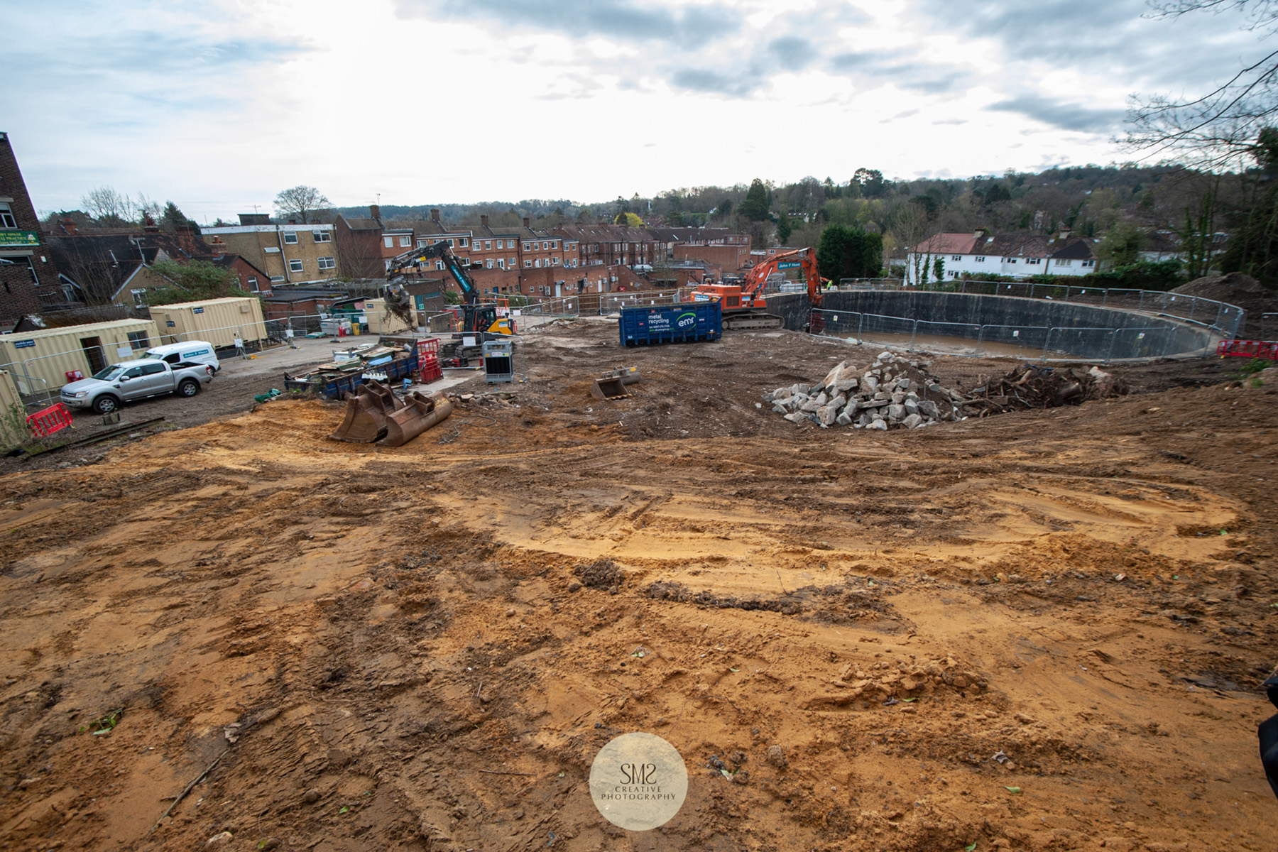 The site is vast, I felt privileged to be given access to capture images like this one. The pieces of steel that fell in the pit are almost cleared.