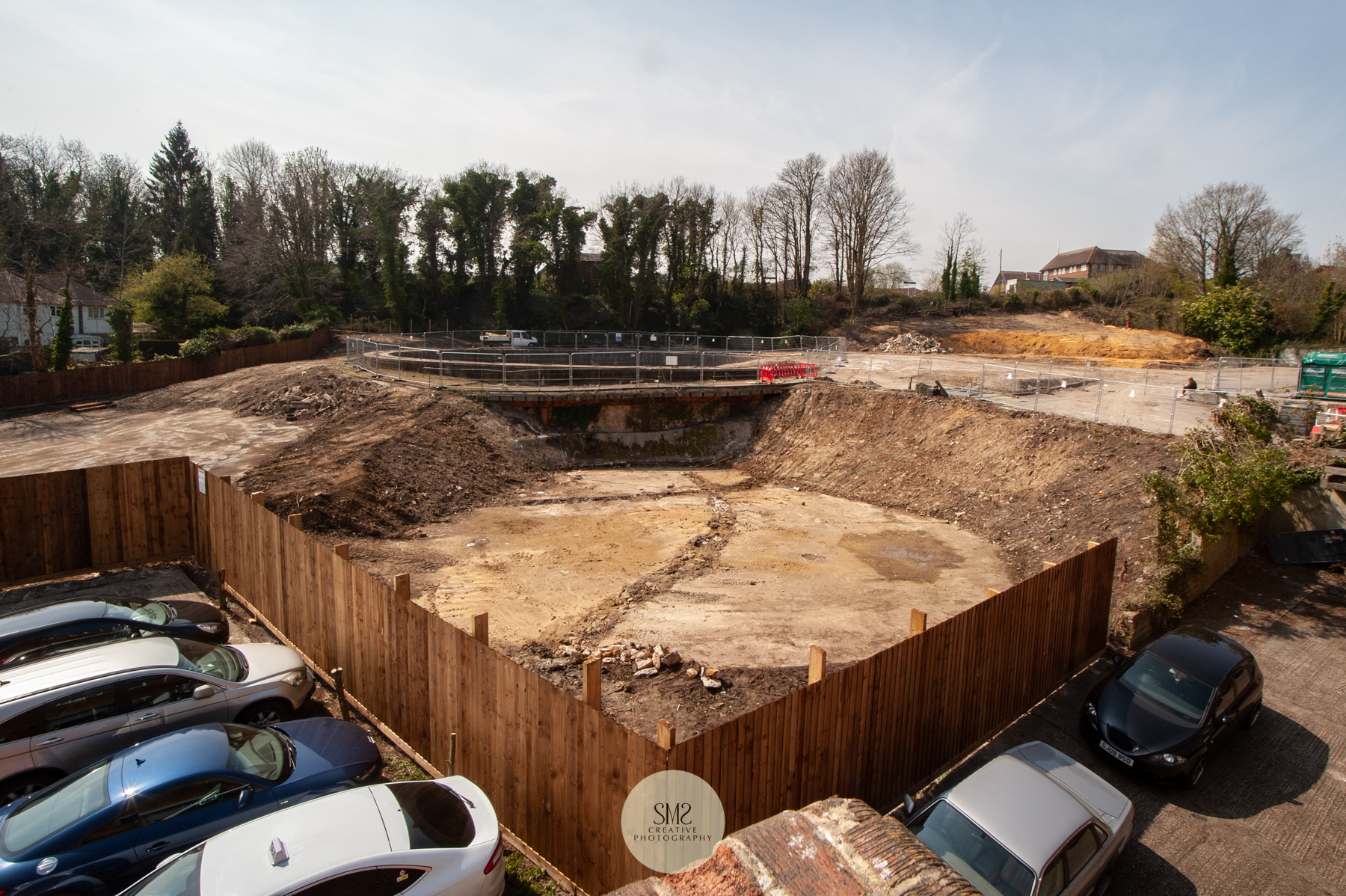 The demolition of the gasholder and clearing of the site is complete ready for the building process to commence, this photograph is how the site looked on 15 April 2019.