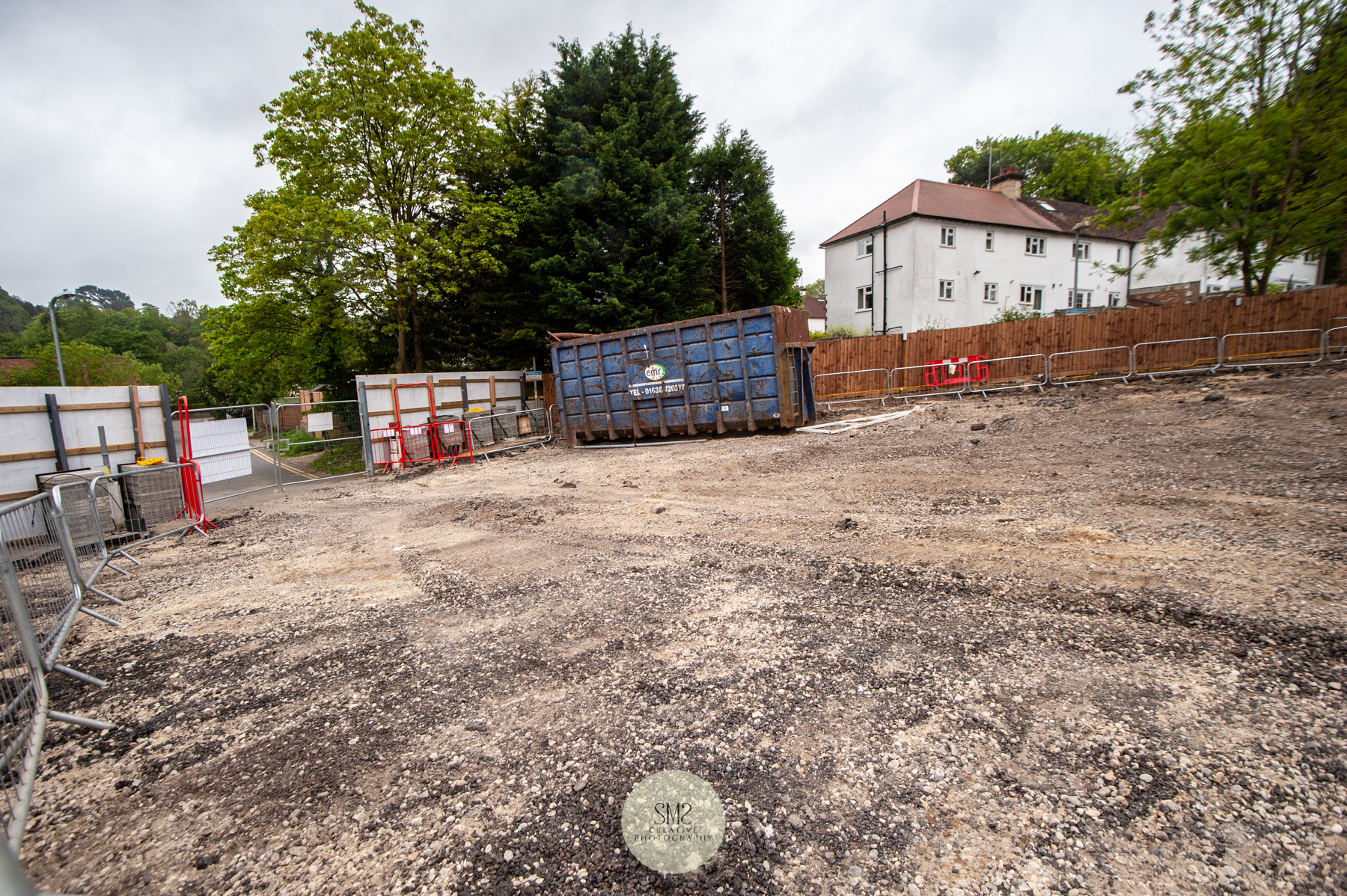 This area was once the Johnsdale car park, the gates at the end will be a new entance.