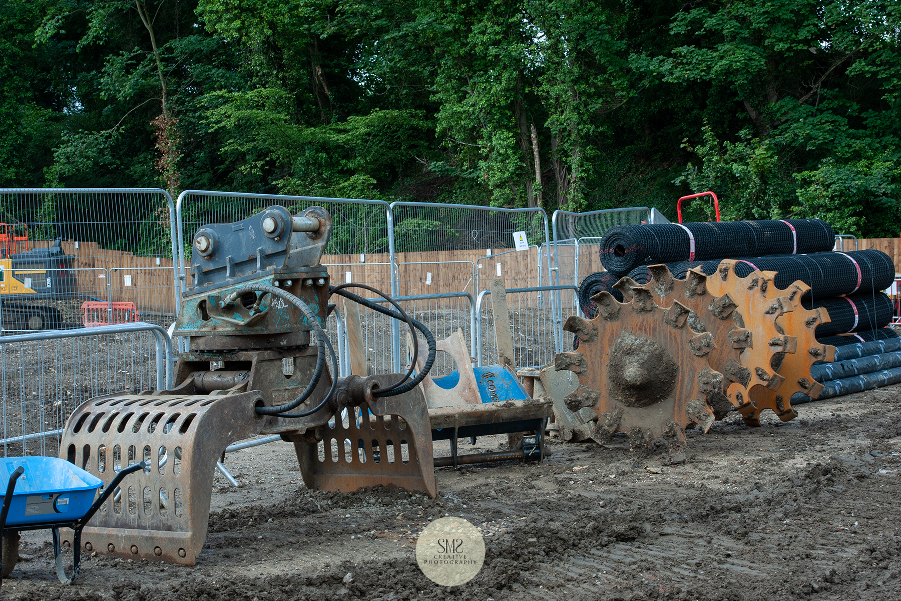 Machinery attachments  for the different excavation processes.