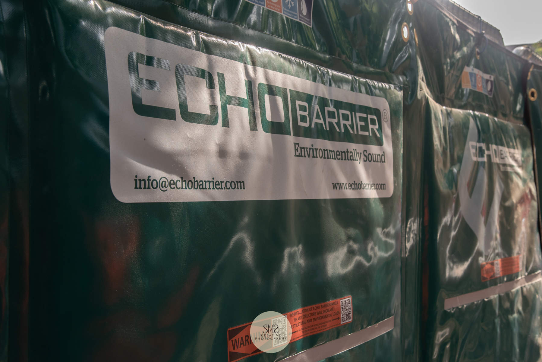 An 'echo barrier' to reduce the noise levels