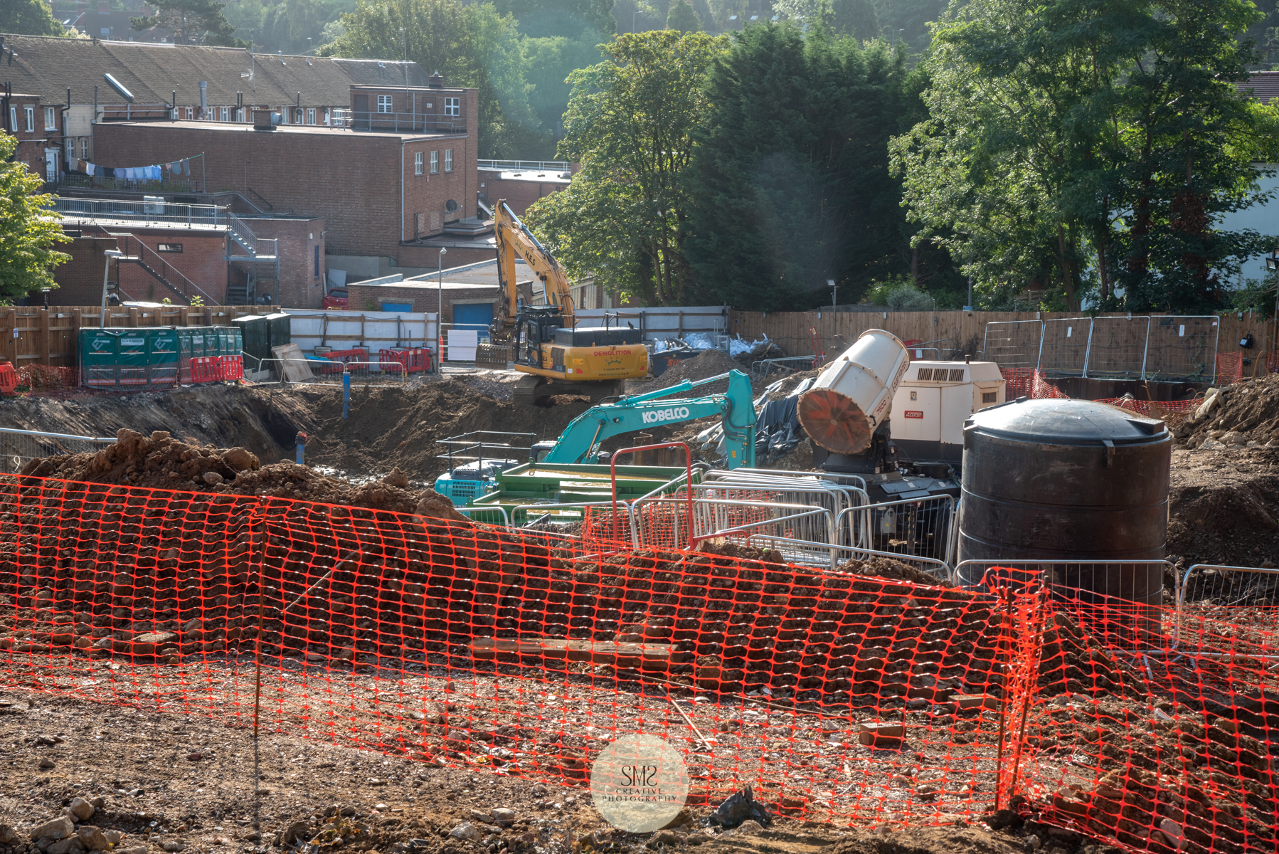 Looking towards what will be the underground car park.