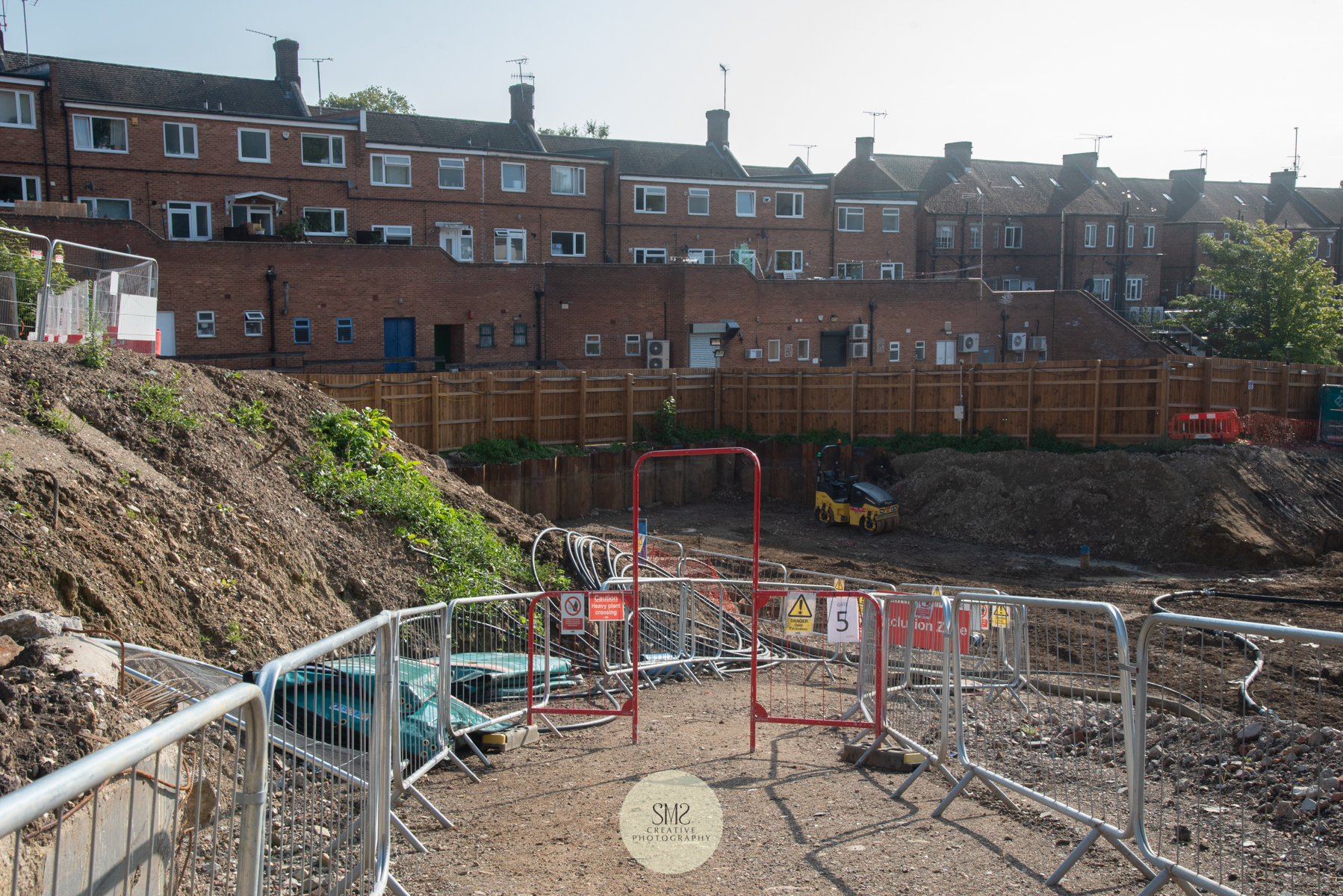 Safety walkways for site managers, engineers and others to access the site within carefully contained boundaries.