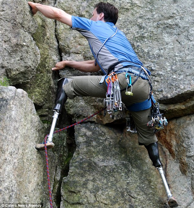 Hugh Herr rockclimbing