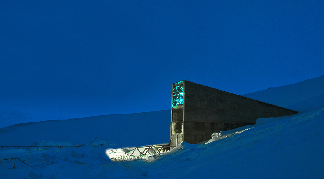 The Entrance to the Svalbard Global Seed Bank. Sometimes called the Doomsday Vault.