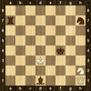 Black to move. A win for white in 545 moves with best play from both sides.