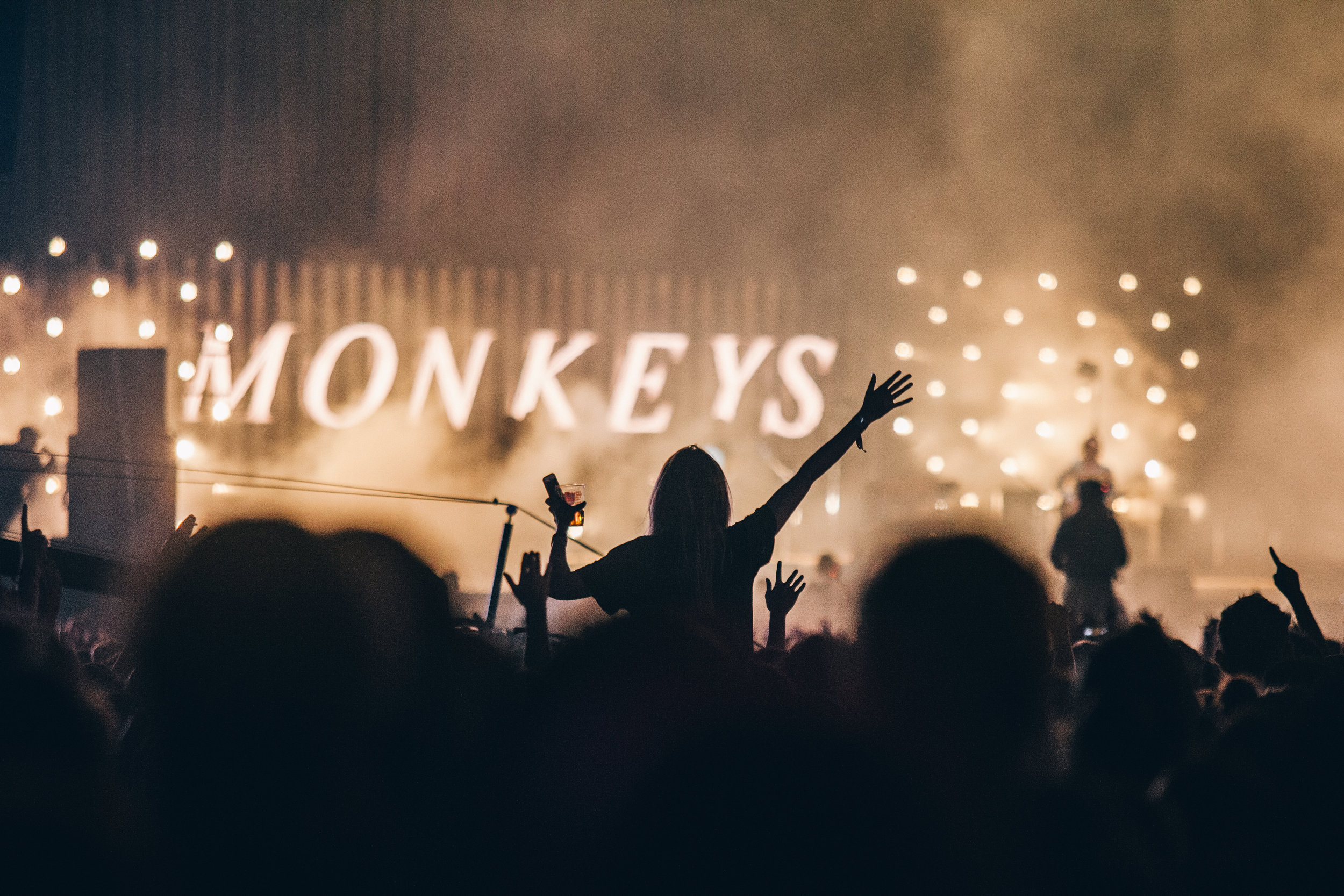 View from the crowd during Arctic Monkeys' show, Thursday 12 July. Credit: Arlindo Camacho