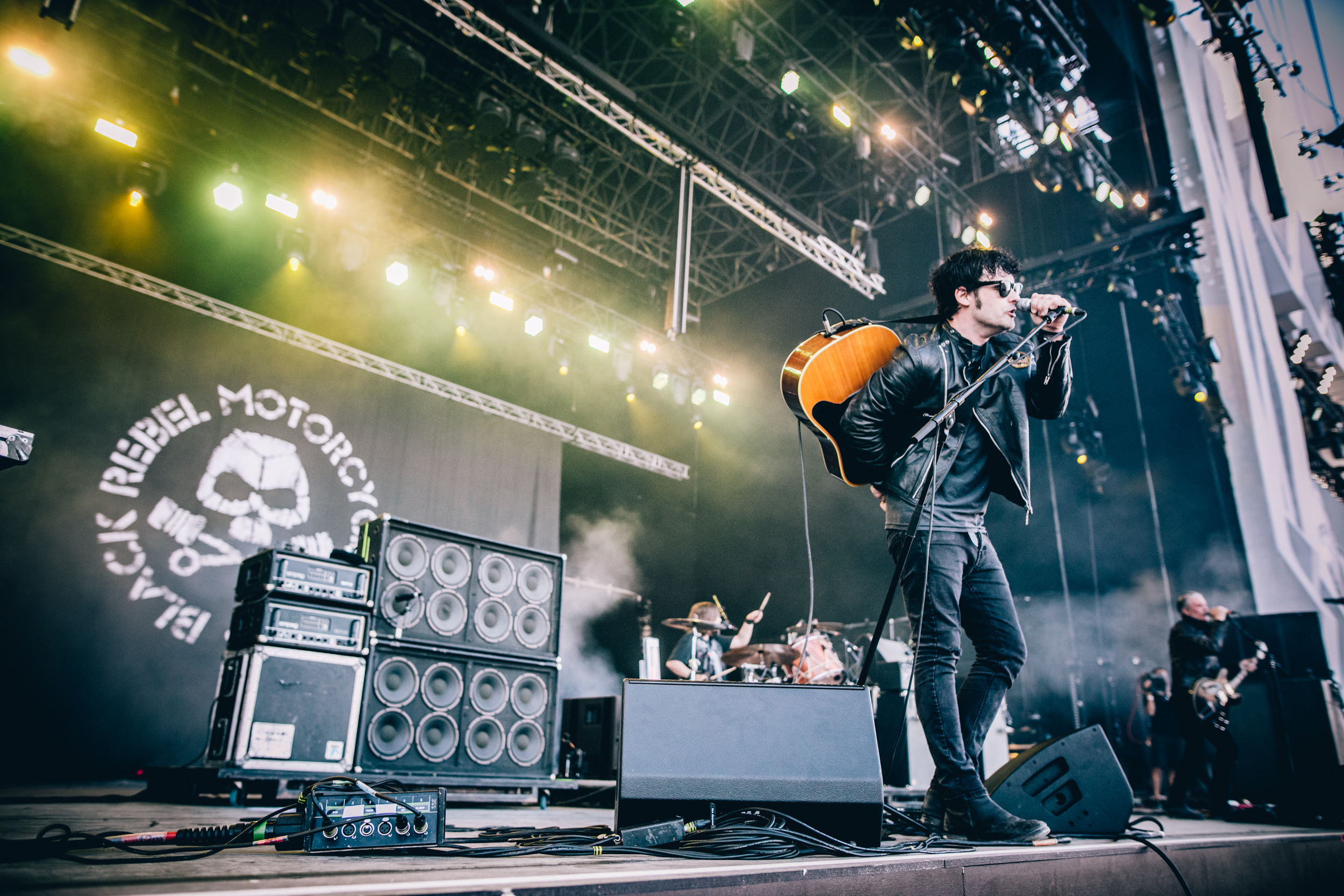Who said it's too hot for leather? Not Black Rebel Motorcycle Club, performing on Friday 13 July. Credit: Arlindo Camacho
