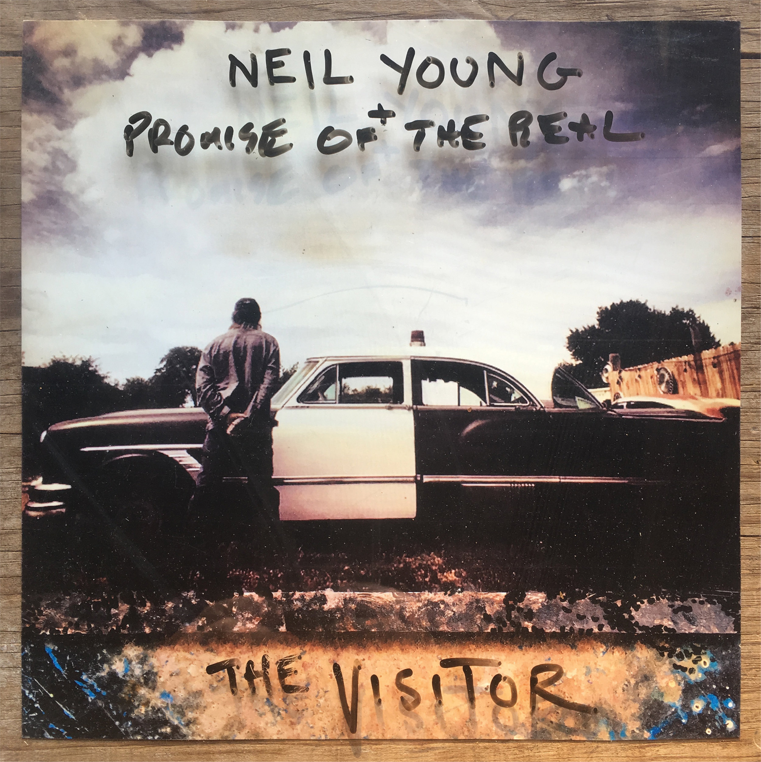 Neil Young The Visitor artwork