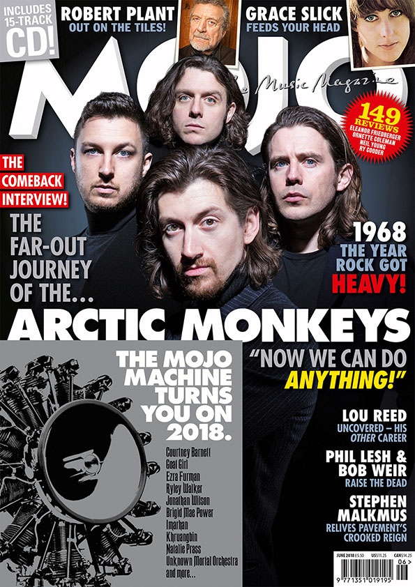 MOJO 295, featuring Arctic Monkeys, Robert Plant, Grace Slick and a great new music CD.