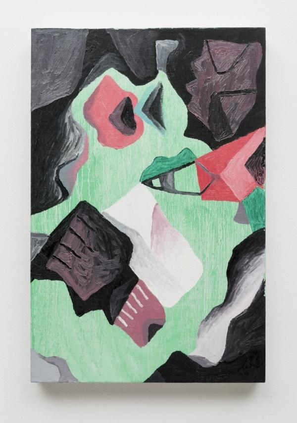 Antonio Malta Campos    Escorrida  , 2015   óleo s/ tela, 60 x 40 cm  Drip, 2015 oil on canvas, 23    ⅝ x 15    ¾  inches