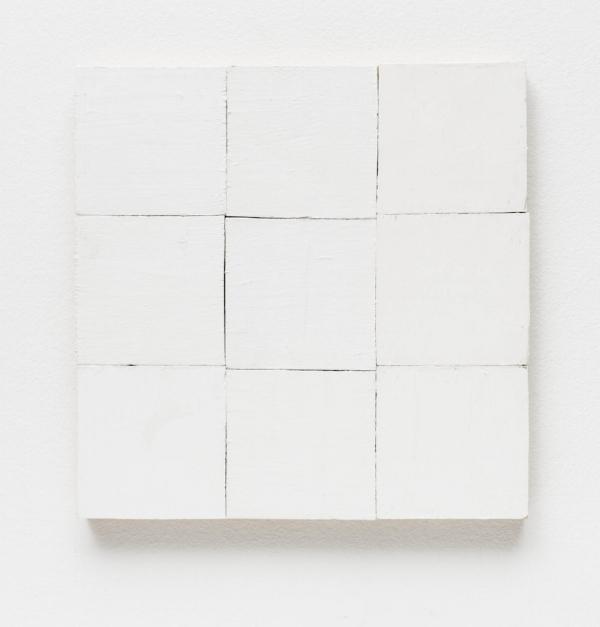 Fernanda Gomes   Sem título, 2015  tinta latex s/ madeira, 30 x 30 cm   Untitled. 2015  latex ink on wood, 11 13/16 x 11 13/16 inches