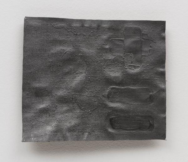 Antonio Dias   +=, 1983  acrílico s/ tela 21 x 24 cm   +=, 1983  acrylic on canvas, 8  ¼  x 9 7/16 inches